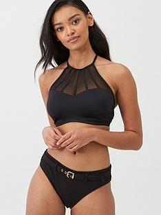 pour-moi-space-high-neck-underwired-cami-top-black