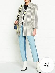 gestuz-eliona-check-blazer-multicolour