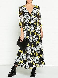 gestuz-tess-floral-print-midi-dress-black