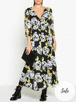 gestuz-tess-floral-print-midi-dress-black