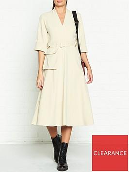 gestuz-reem-pocket-belt-dress-beige