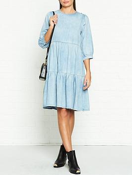 gestuz-sammi-denim-smock-dress-blue