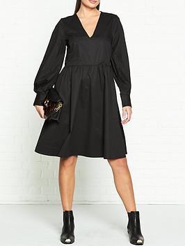 gestuz-stella-v-neck-smock-dress-black