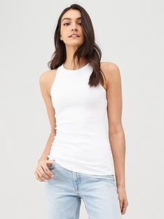 v-by-very-ribbed-racer-neck-vest-white
