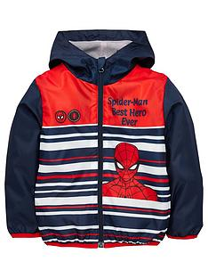 spiderman-boys-spiderman-lightweight-coat-navy
