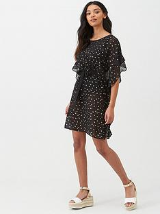 pour-moi-gold-spot-chiffon-ruffle-cover-up-blackgold