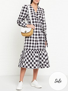 sofie-schnoor-jessica-checked-midi-dress-blackwhite