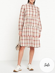 sofie-schnoor-melena-checked-shirt-midi-dress-multi