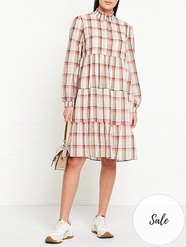 sofie-schnoor-melena-checked-shirt-midi-dress-multi