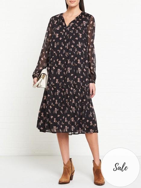 sofie-schnoor-alicia-metallic-midi-dress-black