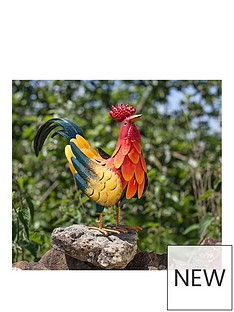 la-hacienda-decorative-steel-crowing-rooster