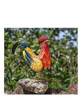 la-hacienda-decorative-steel-crowing-rooster