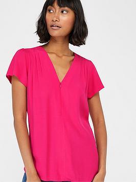 monsoon-nyla-zip-front-top-pink