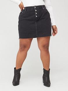 calvin-klein-jeans-plus-high-rise-denim-skirt-dark-wash