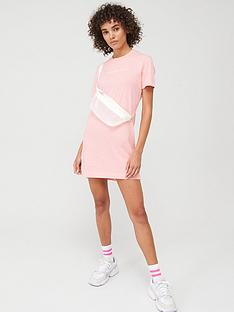 calvin-klein-jeans-institutional-t-shirt-dress-pink