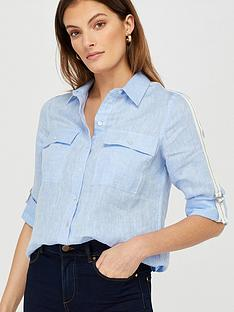 monsoon-katya-100-linen-taped-shirt