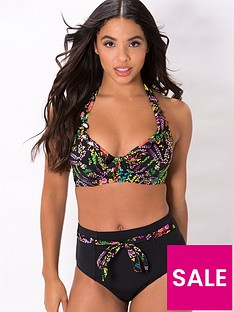 pour-moi-hot-spots-halter-underwired-top-multi