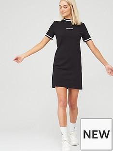 calvin-klein-jeans-neck-amp-cuff-tipping-t-shirt-dress-black