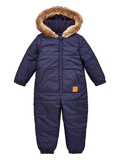 v-by-very-boysnbspfaux-fur-trim-shower-proofnbsphooded-snowsuit-multi