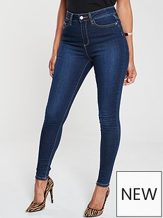 v-by-very-short-florence-high-rise-skinny-jean-indigo