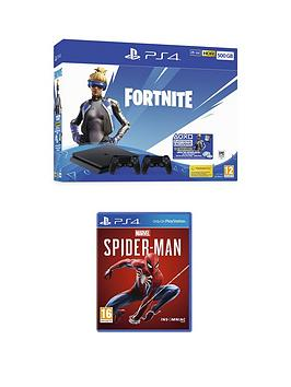 playstation-4-ps4-500gb-fortnite-neo-versa-with-second-dualshock-bundle-and-marvels-spider-man-with-optional-extras