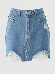 missguided-missguidednbspripped-denim-skirt-light-blue