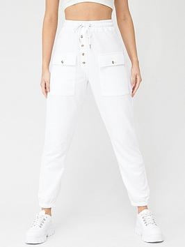 missguided-missguided-button-detail-joggers-white
