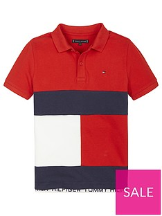 tommy-hilfiger-boys-colourblock-short-sleeve-polo-shirt-red