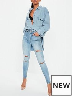 missguided-boyfriend-fit-oversized-denim-shirt-light-blue