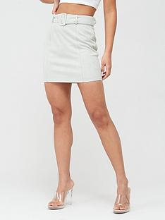 missguided-missguided-suedette-self-belted-mini-skirt-mint