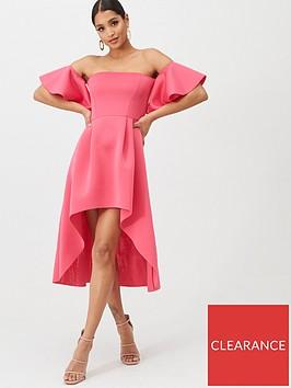 missguided-missguided-bardot-scuba-high-low-midi-dress-pink