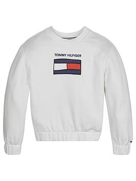 tommy-hilfiger-girls-graphic-crew-neck-sweat-top-white