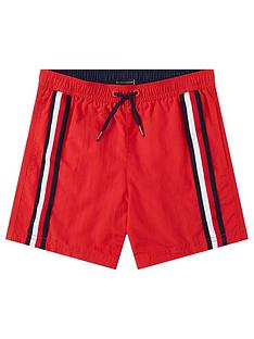 tommy-hilfiger-boysnbspstripe-swim-shorts-red