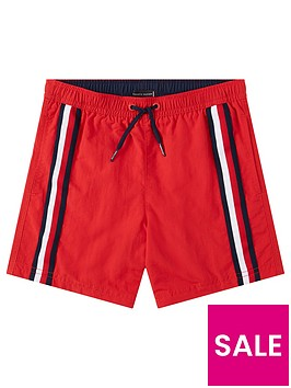 tommy-hilfiger-boysnbspstripe-swim-shorts-red