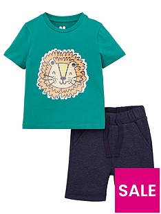 v-by-very-boys-sequin-lion-tee-and-short-set-green