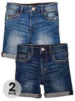 v-by-very-boys-2-pack-denim-shorts-multi