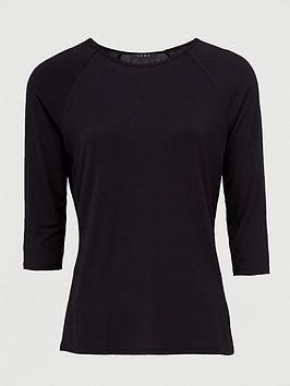 v-by-very-three-quarternbsplength-sleeved-raglan-tee-black