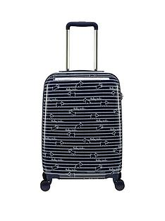 radley-dog-stripe-small-4-wheel-suitcase-ink