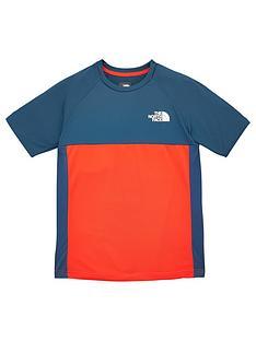 the-north-face-boys-reactor-short-sleeve-t-shirt-navyred