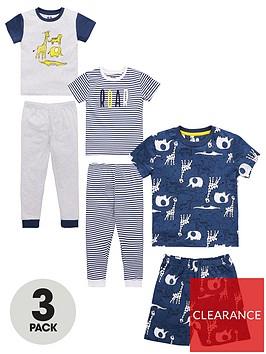 v-by-very-boys-3-pack-jungle-pyjamas-multi