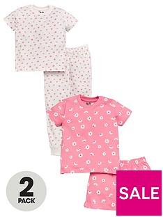 v-by-very-girls-2-pack-neon-floral-pyjamas-multi