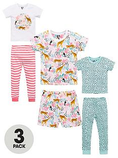 v-by-very-girlsnbsp3-pack-jungle-pyjamas-multi
