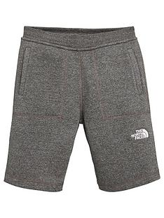 the-north-face-boys-fleece-shorts-grey-heather
