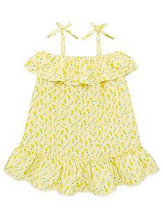 v-by-very-girls-lemon-print-frill-detail-dress-yellow