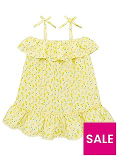 v-by-very-girls-lemon-print-frill-detail-dress-yellow