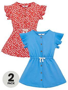 v-by-very-girls-2nbsppack-frill-sleeve-dresses-multi
