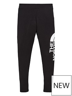 the-north-face-girls-big-logo-leggings-black