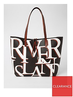 river-island-river-island-brand-print-shopper-bag-black