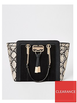 river-island-river-island-snake-mix-winged-tote-bag-black