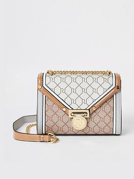 river-island-river-island-monogram-foldover-shoulder-bag-light-grey